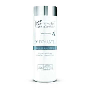 Bielenda Professional X- Foliate Clear Skin Tonik kwasowy do skóry trądzikowej (200 ml)