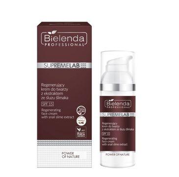 Bielenda Professional SupremeLab Power of Nature Regenerujący krem do twarzy z ekstraktem ze śluzu ślimaka SPF 15 (50 ml)