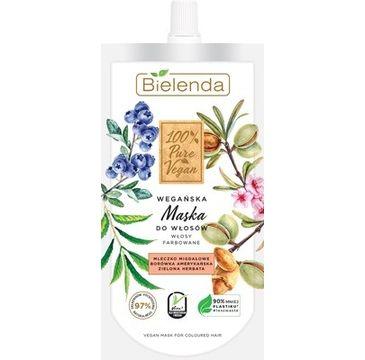 Bielenda –  Wegańska maska do włosów farbowanych 100% Pure Vegan (125 ml)