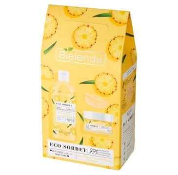 Bielenda Zestaw prezentowy Eco Sorbet Ananas woda micelarna 500ml+krem do twarzy 50ml (1 szt.)