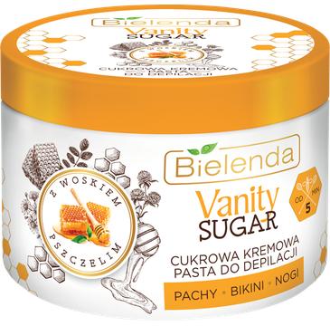 Bielenda 鈥� Vanity Sugar Cukrowa kremowa pasta do depilacji z woskiem pszczelim (100 g)