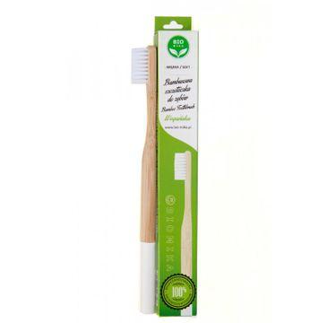 Bio4You – Bambusowa szczoteczka do zębów biała (1 szt.)
