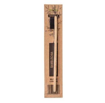 Bio4You – Bambusowa Szczoteczka do zębów czarna z miękkim włosiem (1 szt.)
