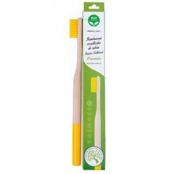 Bio4You – Bambusowa szczoteczka do zębów żółta (1 szt.)