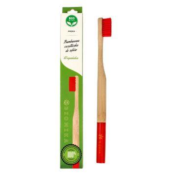 Bio4You – Bambusowa szczoteczka do zębów czerwona (1 szt.)