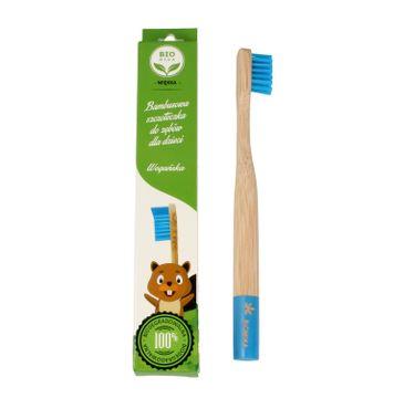 Bio4You – Bambusowa szczoteczka do zębów dla dzieci niebieska (1 szt.)