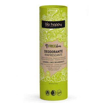 Bio Happy 4Freedom odświeżający dezodorant w sztyfcie Limonka & Lawenda (60 g)