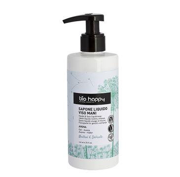Bio Happy Neutral & Delicate delikatne mydło w płynie do twarzy i rąk Owies (200 ml)