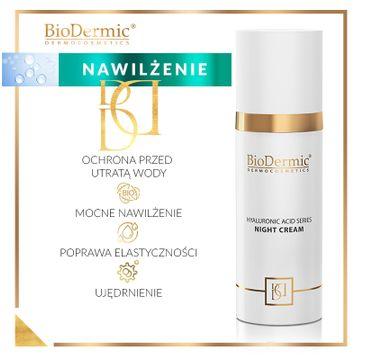 BioDermic Hyaluronic Acid Series Night Cream krem na noc z kwasem hialuronowym 50ml