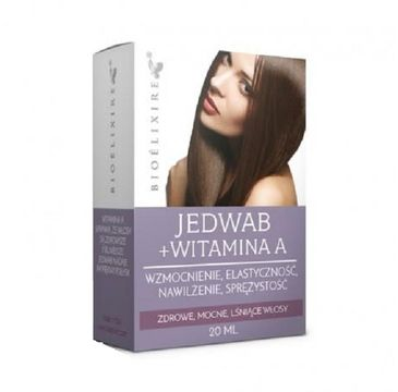 BIOELIXIRE Silk+Vitamin A nawilżający jedwab do włosów z witaminą A 20ml