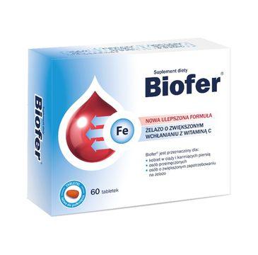 Biofer Żelazo o zwiększonym wchłanianiu z witaminą C (60 tabletek)