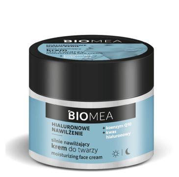 Biomea Krem nawilżający do twarzy na dzień i na noc koenzym Q10 kwas hialuronowy (50 ml)