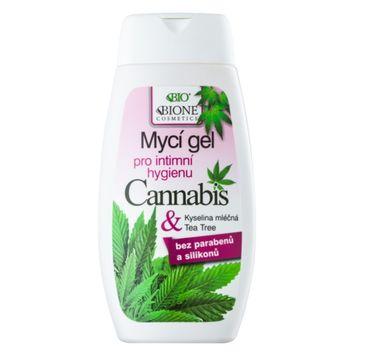 Bione Cosmetics Bio Cannabis żel do higieny intymnej z kwasem mlekowym i olejkiem z drzewka herbacianego 260ml