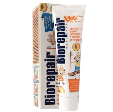 Biorepair Junior Kids 0-6 pasta brzoskwiniowa bez fluoru (50 ml)