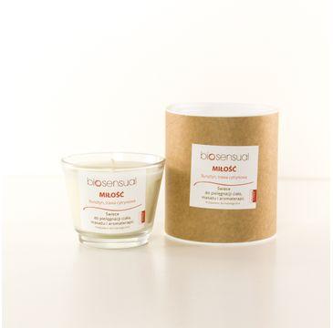 Biosensual Miłość świeca aromaterapeutyczna Bursztyn & Trawa Cytrynowa 100ml
