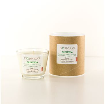 Biosensual Orzeźwia świeca aromaterapeutyczna Rozmaryn & Trawa Cytrynowa 100ml