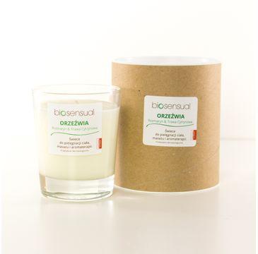Biosensual Orzeźwia świeca aromaterapeutyczna Rozmaryn & Trawa Cytrynowa 200ml