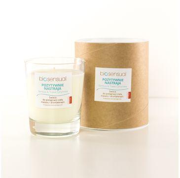 Biosensual Pozytywnie Nastraja świeca aromaterapeutyczna Bambus & Trawa Cytrynowa 200ml