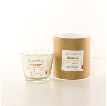 Biosensual Rozgrzewa świeca aromaterapeutyczna Cynamon & Goździk & Pomarańcza 100ml