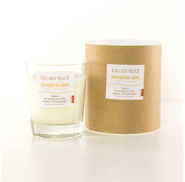 Biosensual Szczęścia Czas świeca aromaterapeutyczna Wanilia & Pomarańcza 200ml