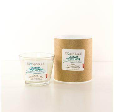 Biosensual Ułatwia Oddychanie świeca aromaterapeutyczna Mięta & Eukaliptus & Trawa Cytrynowa 100ml