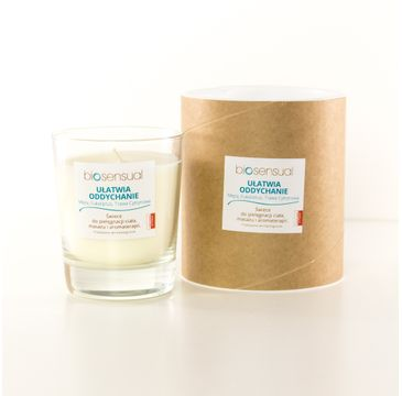 Biosensual Ułatwia Oddychanie świeca aromaterapeutyczna Mięta & Eukaliptus & Trawa Cytrynowa 200ml