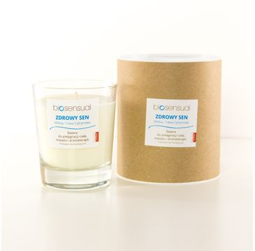 Biosensual Zdrowy Sen świeca aromaterapeutyczna Melisa & Trawa Cytrynowa 200ml