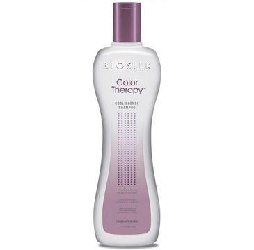 BioSilk Color Therapy Cool Blonde Shampoo szampon do włosów rozjaśnianych i z pasemkami nadający chłodny odcień 355ml