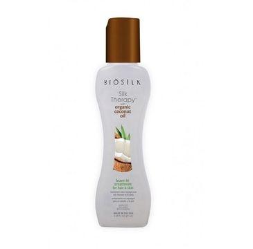 BioSilk Silk Therapy Organic Coconut Oil Leave-In Treatment For Hair&Skin olejek kokosowy do włosów i ciała 67ml