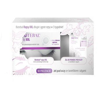 Biotebal – Rzęsy XXL zestaw serum pobudzające wzrost rzęs 3ml + żel do powiek i pod oczy ze świetlikiem i algami 15ml (1 szt.)