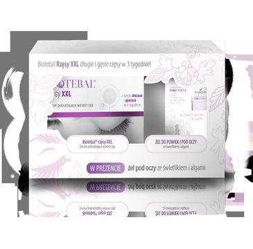 Biotebal – Zestaw serum pobudzające wzrost rzęs 3ml + żel do powiek i pod oczy ze świetlikiem i algami 15ml
