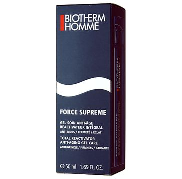 Biotherm Force Supreme Total Reactivator Anti-aging Gel Care Kompleksowy przeciwzmarszczkowy reaktywator w żelu 50ml