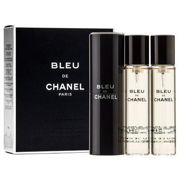 Bleu de Chanel twist and spray woda toaletowa spray z wymiennym wkładem 3x20ml