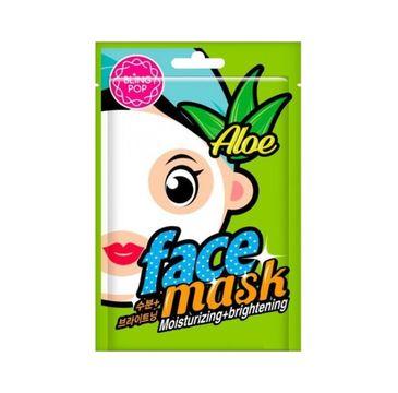 Bling Pop Moisturizing & Brightening Face Mask nawilżająco-rozświetlająca maska w płachcie Aloe 20ml