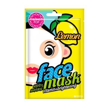 Bling Pop Vitamin & Brightening Face Mask odżywiająco-rozświetlająca maska w płachcie Lemon 20ml