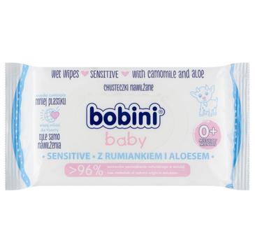 Bobini Baby Sensitive chusteczki nawilżane dla dzieci i niemowląt rumianek i aloes (1 op.)
