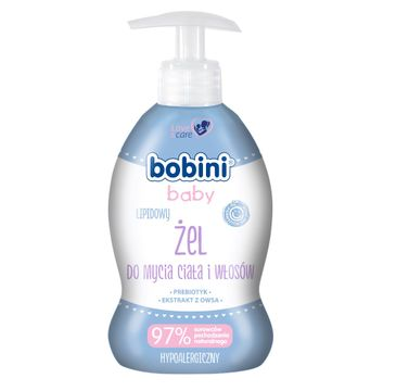 Bobini Baby Lipidowy żel do mycia ciała i włosów 300ml