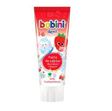Bobini Dent pasta do zębów dla dzieci powyżej 1-go roku życia Lody truskawkowe 75ml
