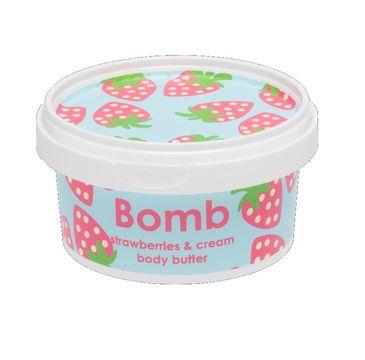 Bomb Cosmetics Strawberry & Cream Prefect Body Butter masło do ciała Truskawka & Śmietana 200ml