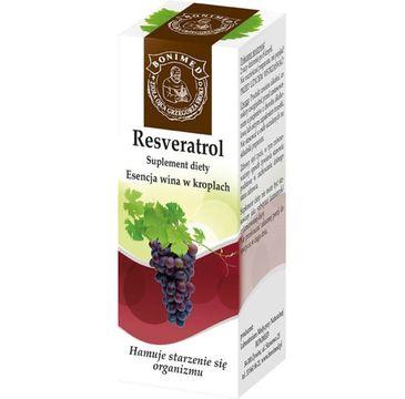 Bonimed Resveratrol esencja wina w kroplach hamuje starzenie się organizmu suplement diety 20ml
