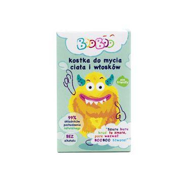 BOOBOO Kostka do mycia ciała i włosów dla dzieci (60 g)