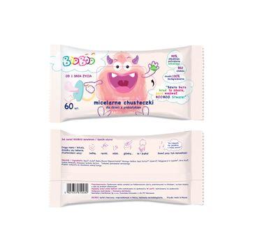 BOOBOO Micelarne chusteczki nawilżane z prebiotykiem dla dzieci (60 szt.)