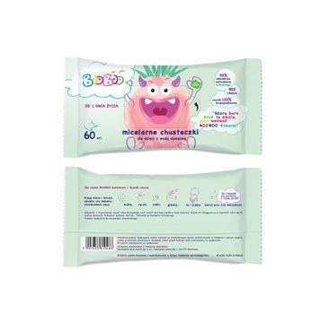 BOOBOO Micelarne chusteczki nawilżane z wodą aloesową dla dzieci (60 szt.)