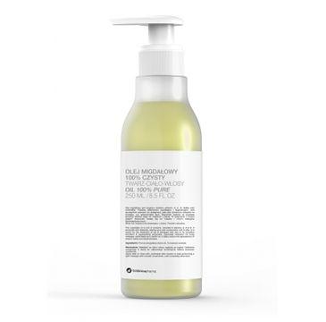 Botanicapharma Olej migdałowy 100% czysty do twarzy, ciała i włosów pompka (250 ml)