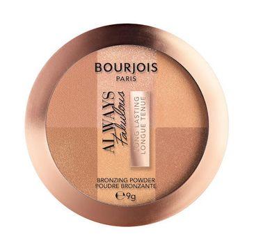 Bourjois Always Fabulous Bronzing Powder bronzer uniwersalny rozświetlający 001 Medium (9 g)
