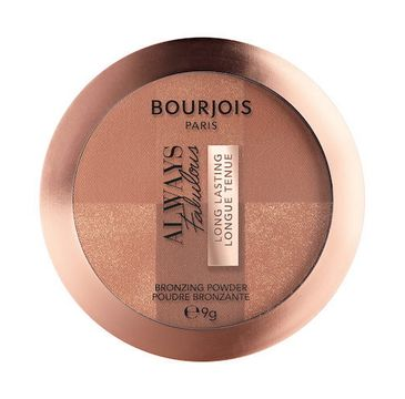 Bourjois Always Fabulous Bronzing Powder bronzer uniwersalny rozświetlający 002 Dark (9 g )