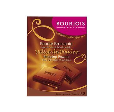Bourjois Delice de Poudre puder brązujący o zapachu czekolwady nr 52 Peaux mates / halees