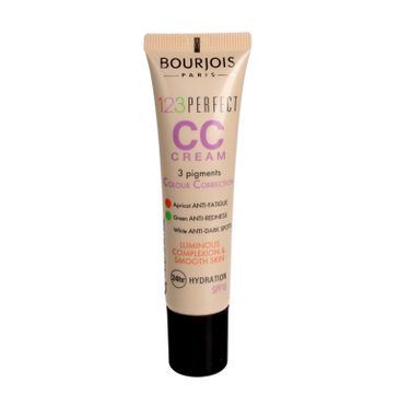 Bourjous 123 Perfect CC Cream – krem CC z 3 pigmentami korygującymi 34 Bronze (30ml)