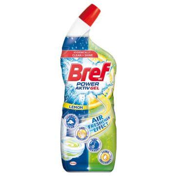 Bref Power Aktiv Gel Lemon Środek czyszczący do WC z Efektem Odświeżacza Powietrza – Lemon (700 ml)