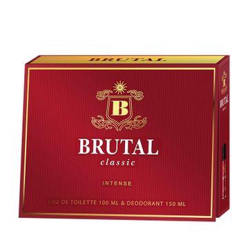 Brutal Classic Intense zestaw prezentowy (woda toaletowa 100 ml + dezodorant spray 150 ml)